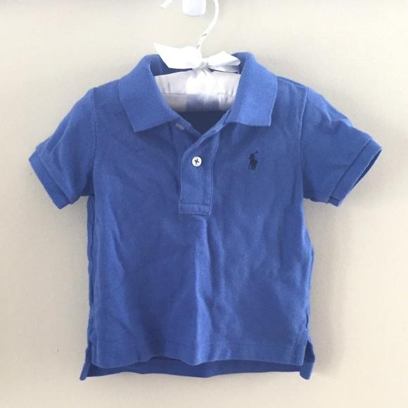 a06350bc Ralph Lauren Baby Boy Blue Polo Shirt 9 Months